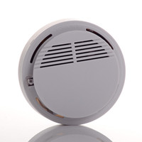 pille çalışan alarmlar toptan satış-Duman Dedektörü Alarm Sistemi Sensörü Yangın Alarmı Kablosuz Duman Dedektörü Ev Güvenlik Yüksek Hassasiyet Kararlı LED 9 V pil işletilen beyaz