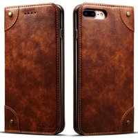 Wholesale Business Premiums - Luxury Retro Premium Leather Flip Wallet Case Business Credit Card Holder Cover With Card Slot For iPhone 8 6 6s 7 Plus