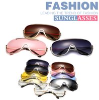 Wholesale Cheap Metal Stars - 2017 cheap Pop star style sunglasses metal material women and men modern individuality sunglasses One-pieces sun glasses 9 color