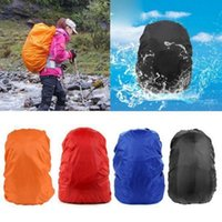 Wholesale Wholesale Single Luggage - Practical Waterproof Dust Rain Cover For Travel Camping Backpack Rucksack Bag Outdoor Luggage Bag Raincoats 7 Colors OOA2437