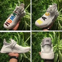 Wholesale Pw Blue - Pharrell's NMD Human Race Runner Shoes for Sale,NMDs Real Boost Hu PW Birthday,Fear of God,Shock Pink,Burgundy Friends and Family