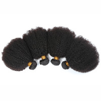 Wholesale wavy permed hair - Cheap Hair bundles Malaysian Virgin Hair Human Hair Weave Wavy afro kinky curly Natural Color Hair Extensions