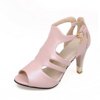 Wholesale fish front - Summer, Europe and America Cup with buckle hollow, pure color fish mouth wedding, dating fashion female sandals 9898