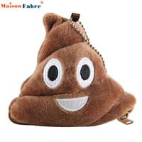 damla nakliye yastıkları toptan satış-Toptan-U Poo Yastık Peluş Yumuşak Emoji İfade Madeni Para Çanta Hediye Drop Shipping