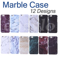 Wholesale Iphone Hard Plastic High Quality - High Quality Hard PC Marble Skin Back Cover Case Protector Phone Plastic Cases For iphone 5 5S 6 6S 7 Plus Free Shipping