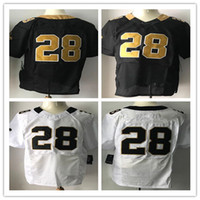 Wholesale Game Move - New Football Jerseys #28 New Move Jersey Popular Players Black White Color Game S-XXXL Elite 40-56 Stitched Mix Order All Football Jersey