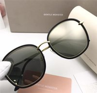Wholesale Gentle Style - New gentle monsters classic trend sunglasses ladies brand plate metal personality designer sun square round frame style Mad Crush