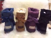 Wholesale Womens Size 12 Boots - Free shipping 2016 High Quality Women's Classic tall Boots Womens Boot Snow boots Winter boots leather boot US SIZE 5--12.