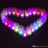 Wholesale Party Gifts Led Lights - 1pcs Creative colorful Voice control Led electronic candles wedding decoration lights Valentine's day Birthday party gifts toys