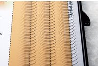Wholesale Extension Y - 8 10 12mmNatural C Curl 2D Black Individual Silk Y Lash False Eyelashes Extension Beauty Tips Big eye 0.07mm