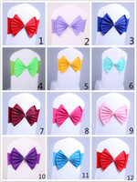 Spandex Lycra Chair Sashes Elastic Satin Chair Bandas com fivela para Wedding Chair Cover Sashes Bows