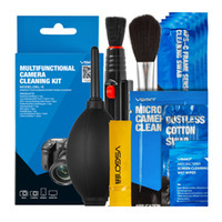 Wholesale brand clean - Brand New VSGO Professional Multifunctional Camera Cleaning Kit Lens Cleaning Pen Brush Swab Hurricane Air Blower All in One.
