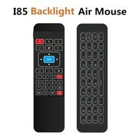 Wholesale android tv box gamepad for sale - Backlight Wireless Mini Keyboard i85 GHz Fly Air Mouse for Android TV Box IPTV Pad Xbox PS3 Gamepad Remote Control