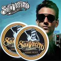 Wholesale Hair Waxing Tools - 113ml Suavecito Pomade Hair Waxes Strong Style Restoring Pomade Hair Gel Style Tools Firme Hold Big Skeleton Slicked Back Hair Oil Wax Mud