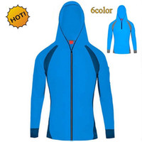 Wholesale Radiation Protection Clothes - Summer 2017 Outdoor Sunscreen Radiation Protection UV Clothing Men's Long Sleeve Mesh Breathable Quick-dry Fishing clothing Ardigan hoody