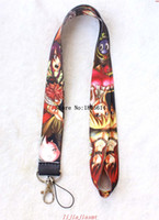 Wholesale Hot Cartoon Mp3 - New Hot sale Free shipping Cartoon Japanese Anime Fairy Tail MP3 4 cell phone  keychains  Neck Strap Lanyard wholesale 10pcs