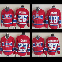 Wholesale Cups Mats - Montreal Canadiens Jerseys #26 Mats Naslund jersey #93 Stanley Cup #23 Bob Gainey #18 Serge Savard roy Hockey Stitched Jerseys Throwback