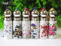 Wholesale Wholesale Fragrance Samples - 5ml Small Roll On Glass Bottles for Essential Oil Mini Refillable Roller Ball Fragrance Glass Vials Perfume Thin Glass Sample Bottle