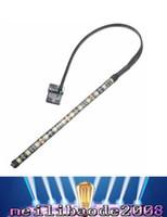 Wholesale Led Strip Case - 4 Colors 4 Pin 5050 12 LED Light Neon Adhensive Strip Waterproof Dustproof Computer Case Flexible Strip Lamp DC12V LED MYY