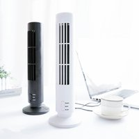 Wholesale Computer Tower Cooler - 2017 hot Mini USB Leafless Tower Fan Ultra-quiet Strong Wind 2 Speed Desk USB Cooling Fan for Home Computer Office