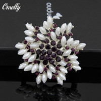 Wholesale Wholesale Bulk Flower Pins - Brooches Multi-beads Brooches Pins Bridesmaid Flower Girl Wedding Pearl Rhinestone Brooches Wholesale Jewelry Christmas Gift in Bulk Buy