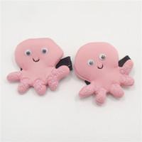 smiley tier großhandel-Rosa smiley-Kraken-Haarspangen-Baumwollkarikatur-Tierhaarnadel-Neuheit-Meeresflora und -fauna-Haar-Griff-nette Kind-Kleinkind-Haarspange 10pcs / lot