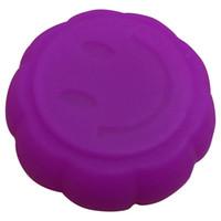 silikongefäße groihandel-Wachsbehälter 200X einzigartige Kürbisform lächelnder Behälter Praktische und zarte Antihaft-Silcone-Behältergläser tupfen Rauchölbox