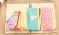 Wholesale Sheep Pencil Case - Wholesale- Kawaii 4Colors Choice - Sheep 19*9CM Pen Coin Pencil BAG Case Pouch ; Coin Purse BAG & Wallet Storage Holder Pouch