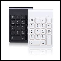 Wholesale laptop computing online - Protable Mini Wireless Numeric Keyboard Portable Mini GHz Number Keypad For Compute PC Laptop black white color DHL free