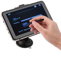 7 'gps navigasyon toptan satış-7 inç Araba GPS Navigasyon Sistemi GPS 706 Bluetooth AVIN Kapasitif Ekran FM 8 GB Ücretsiz Harita ile 256 MB Araç Kamyon GPS SAT NAV