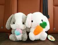 Wholesale Bamboo Charcoal Packaging - Wholesale- AMUSE Cuddly Bunny Fluffy Rabbit Plush Animal Stuffed With Cotton And Bamboo-charcoal Package Pop Usa Lobby 22cm Tall Gift