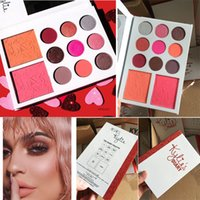 Wholesale Eyeshadow Palette Mirror - 2017 Kylie valentine palette collection Kyshadow 9 color Eyeshadow 2 Blush Kylie's Diary Eyeshadow Palette with Mirror valentine's day gift
