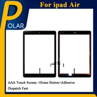 Wholesale Ipad2 Touch Screen - Best Quality OEM Tablet PC Screen For White iPad Air Touch Screen Digitizer with Home Button +Adhesive & Free DHL Shipping
