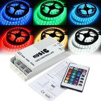 Wholesale Light Strips For Music - DC12-24V 24 Keys Music LED Controller Sound Sensitive Music Controller IR For RGB 5050 3528 LED Light Strip 8-10 Distance