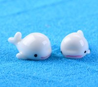 Wholesale Tiny Diy Accessories - 30pcs free shiping white color tiny dolphin fairy garden miniature decor DIY home desk artificial resin indoor and outdoor decor accessory