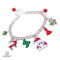 Wholesale Cheap Christmas Charm Bracelets - Fashion bracelets jewelry for women charm cheap chain gift bracelet wapiti christmas pendant bracelets bangles pulceras mujer wholesale