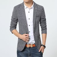 Мужская корейская Slim Fit Fashion Cotton Blazer Костюмная куртка Plu Male Blazers Coat Свадебное платье Blazer Slim Dress Blazers Платье Blaze