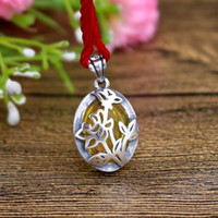 Wholesale 12x16mm pendant for sale - Group buy 12X16mm Oval Cabochon Semi Mount Sterling Silver Women Pendant Fine Silver Jewelry Setting