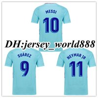 Wholesale Messi Away - Top Thai quality 17 18 home MESSI SUAREZ jersey soccer 3RD ARDA A.INIESTA SERGIO PIQUE I.RAKITIC NEYMAR JR 2017 Spain away football shirts