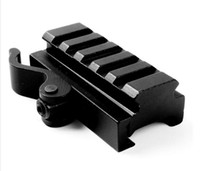 Wholesale rail mount accessories - QD Quick Release Mount Adapter 5 Slots Fit 20mm Picatinny Weaver Rail Base Hunting Gun Accessories