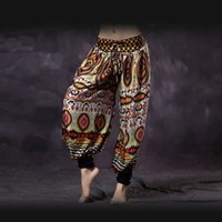 Wholesale Belly Dance Bloomers - Bellydance American Tribal Style Belly Dance Tribal Colored Trousers Women Bloomers Chic Gypsy Dance ATS Harem Pants Unisex
