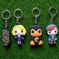 Promotion Alloy Cartoon Keychains Fantastic Beasts and Where to Find plastic NS Newt Scamander Niffler Figures Keychain Key Chains Key Rings Women Men Jewelry 170705