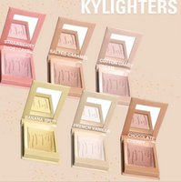 Wholesale Oil Stocks Prices - In Stock ! Factory price kylie jenner Highlight shimmer Kylighter Eyeshadow Blush Contour highlighter makeup 6 COLOR