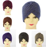 Wholesale Wholesale Women Bling Caps - Bling Bling India Hat Turban Cap Women Autumn Winter Warm Skullies Beanies Casual Streetwear India Turban Bandanas KKA2692