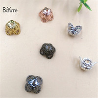 Wholesale Silver Filigree Bead Caps - BoYuTe Diy Jewelry Materials Supplier 200 Pieces 4 Colors 8MM Filigree Brass Flower Bead Caps Diy Jewelry Materials