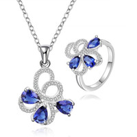 Wholesale Mosaic Necklace Set - best gift mosaic sterling silver plated jewelry sets for women WS763,popular 925 silver necklace bracelet jewelry set