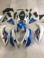 aprilia rs 125 fairing set بالجملة-3 gift جديد حار abs دراجة نارية هدية مجموعات 100 ٪ يصلح لسوزوكي GSXR 600 750 K11 2011 2012 2013 2015 GSXR600 750 11 12 13 15 Blue white AY