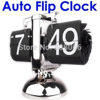 Mechanical Alarm Clocks Square Wholesale Retro Flip Down Clock Modern Scale  Digital Desk Table Clock