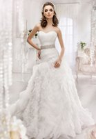 Wholesale Custom Design Waist Sashes - Sexy Sweetheart Neck Floor Length Empire Waist Dress With Beaded Sash Special Train Design Wedding Dress Spring Summer Hot Sale