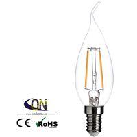 ücretsiz gönderim e14 mum ampul toptan satış-C35 LED Mum ışığı E14 2 W 200LM 3000 K Sıcak Beyaz LED Filament Ampul (AC220-240V) Ücretsiz Kargo